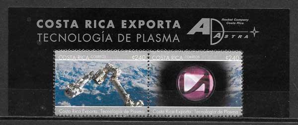 sellos colección espacio Costa Rica 2007