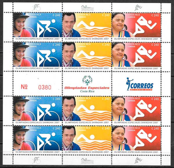 sellos colección deporte Costa Rica 2007