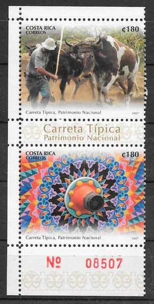 sellos colección patrimonio costa Rica 2007