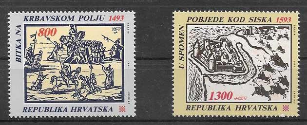 sellos arte Croacia 1993