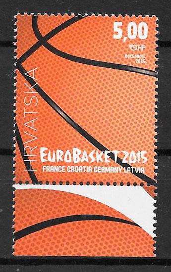 colección sellos deporte Croacia 2015