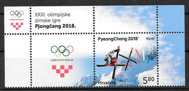 filatelia deporte Croacia 2018
