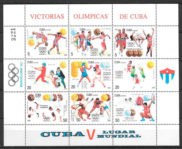 sellos deporte Cuba 1992