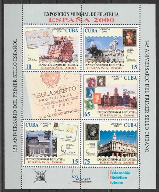 colección sellos arquitectura Cuba 2000