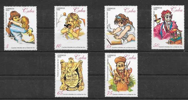 sellos cuentos infanties Cuba-2000-03