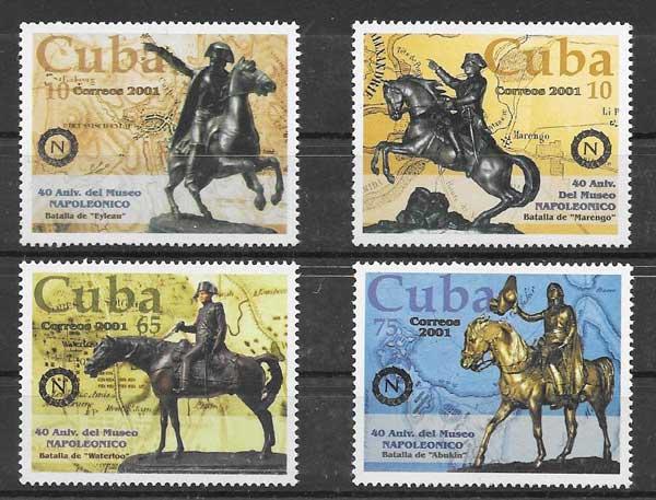 Filatelia sellos Napoléon Bonaparte Cuba 2001