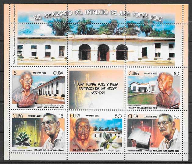 sellos personalidad Cuba 2002