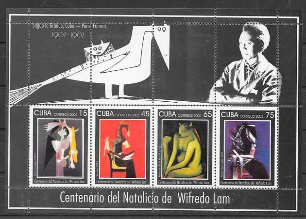 sellos arte Cuba 2002