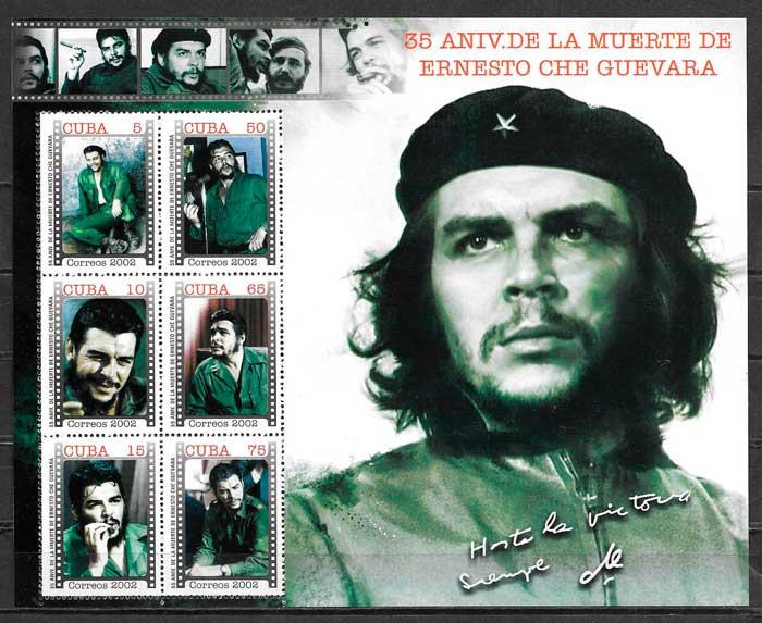 filatelia personalidad Cuba 2002