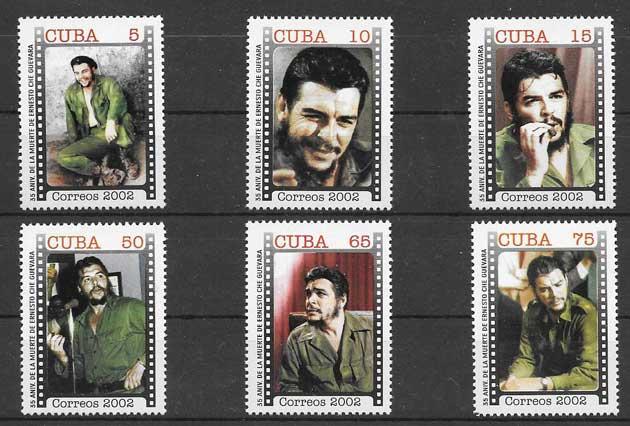 Sellos El Che Guevara Cuba 2002