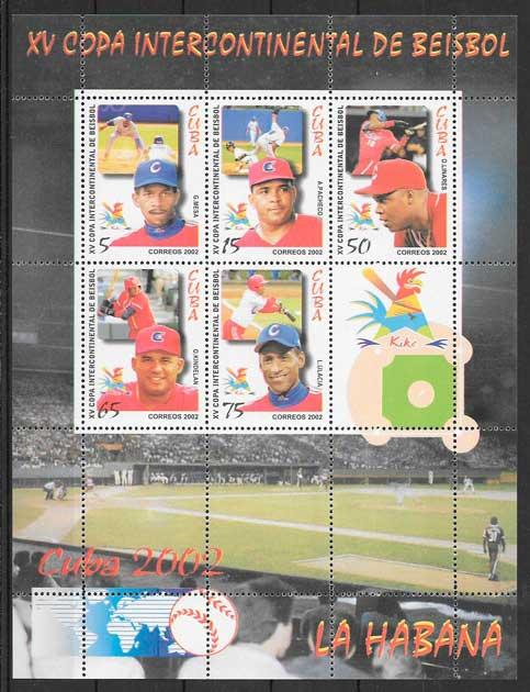 filatelia deporte Cuba 2002
