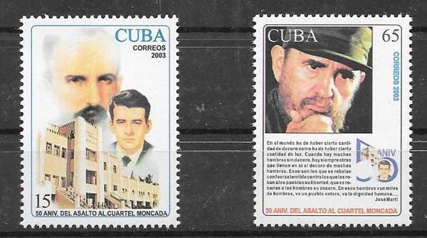 Sellos personalidad cubana Fidel