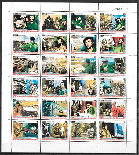 sellos colección personalidades Cuba 2009
