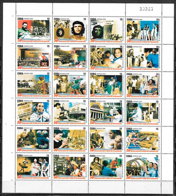 sellos colección personalidad Cuba 2009