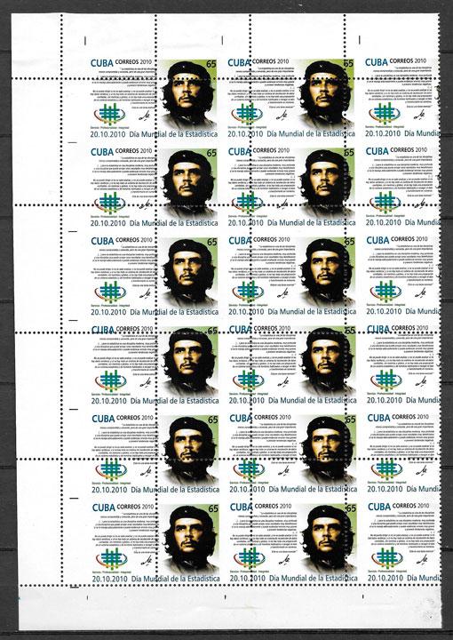 sellos personalidad Cuba 2010