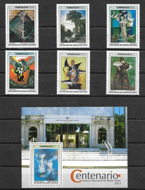 Sellos diversidad del arte cubano