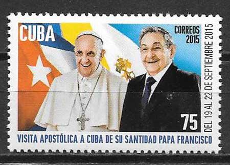 sellos colección personalidades Cuba 2015