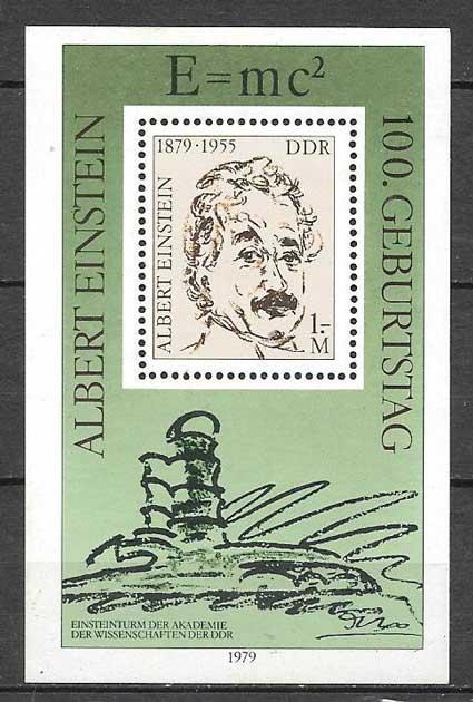 sellos personajes Alemania DDR 1979