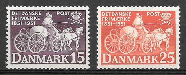 filatelia transporte Dinamarca 1951