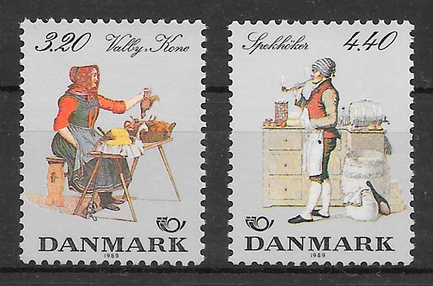 filatelia arte Dinamarca 1989