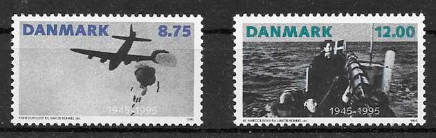 sellos transporte Dinamarca 1995