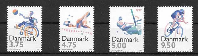 Colección sellos Deporte Dinamarca 1996
