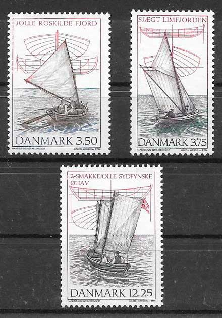sellos transporte Dinamarca 1996