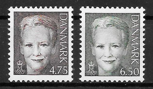 filatelia colección personalidades Dinamarca 2002