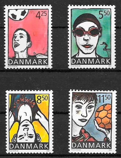 filatelia deporte Dinamarca 2003