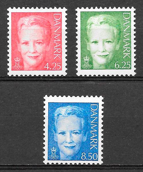 filatelia colección personalidades Dinamarca 2003