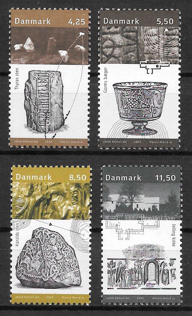 colección sellos arte Dinamarca 2003