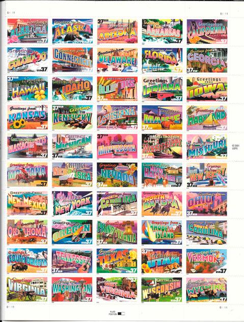 sellos turismo EE.UU 2002