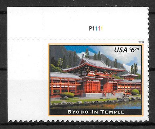 colección sellos arquitectura USA 2018