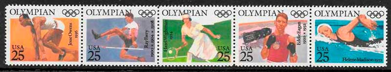 sellos deporte USA 1990