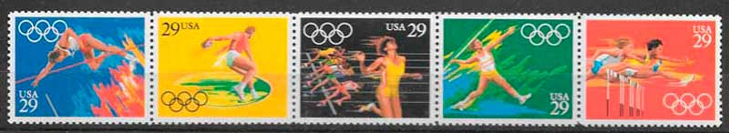 filatelia deporte USA 1991