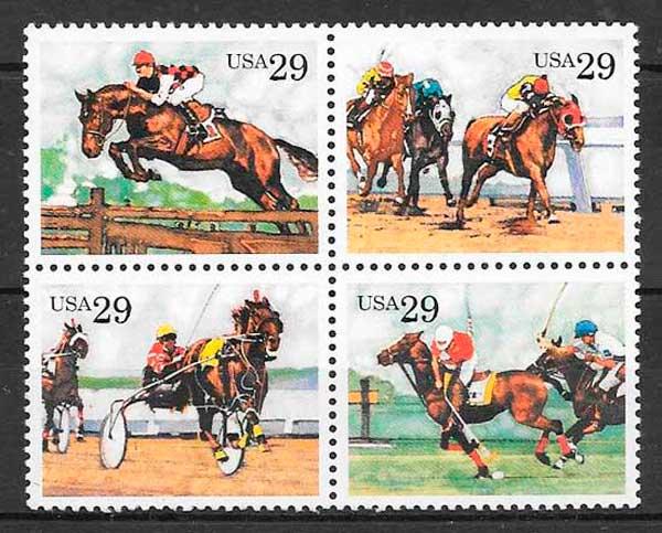 filatelia colección deporte USA 1993