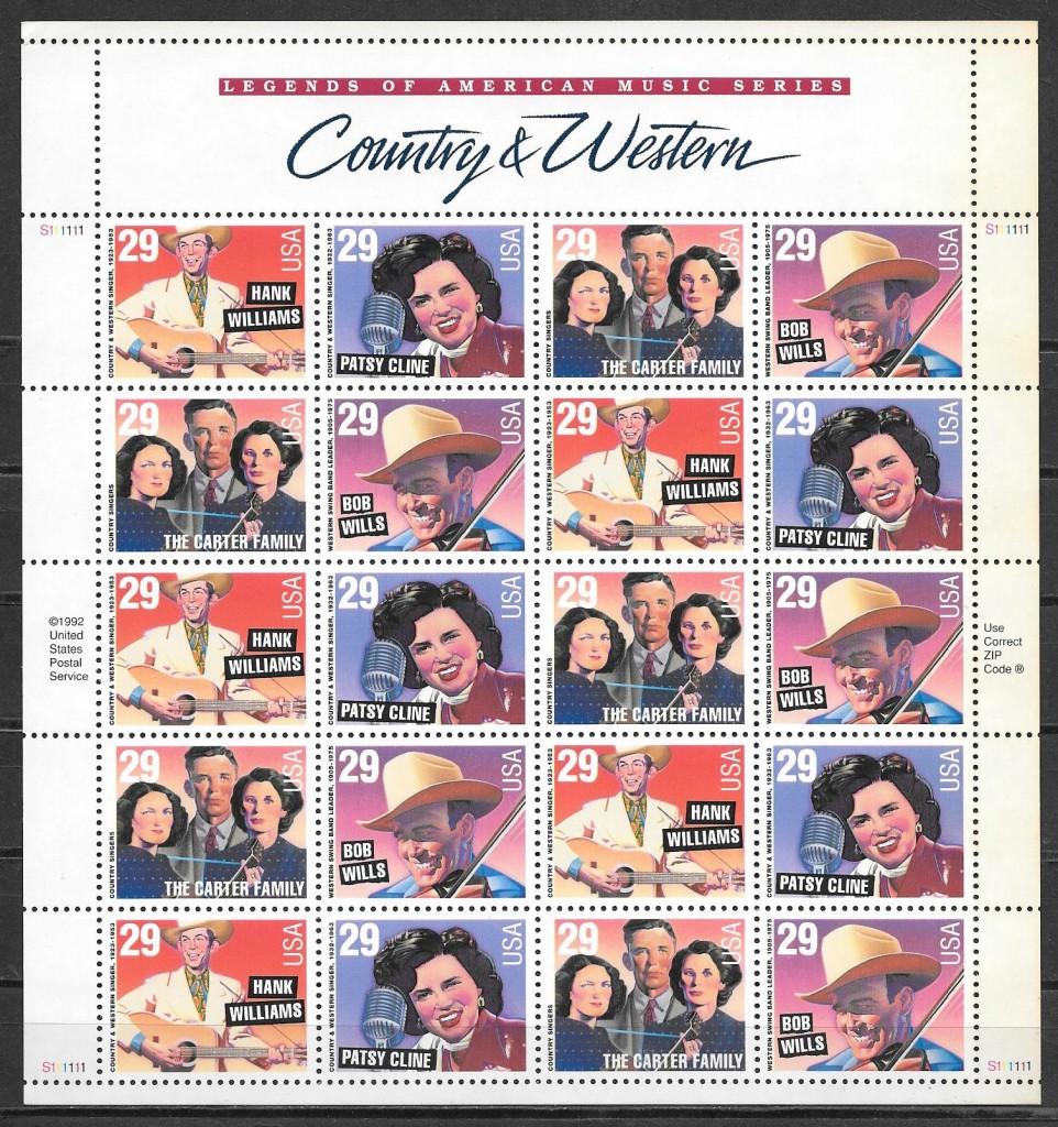 sellos arte EE:UU 1993