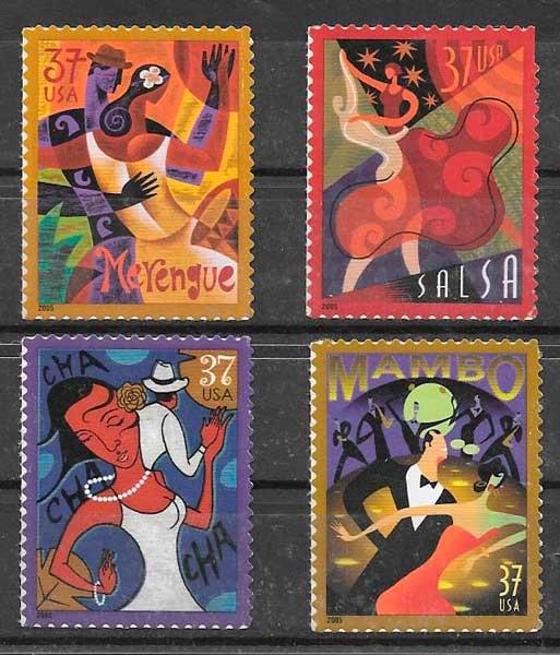 colección sellos arte USA 2005