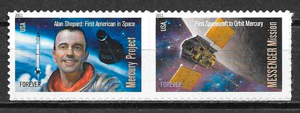 filatelia espacio EE:UU 2011