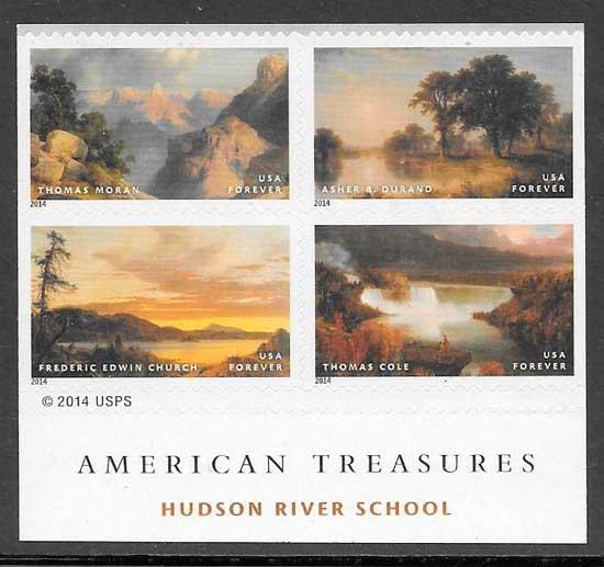 colección sellos arte EE.UU 2014