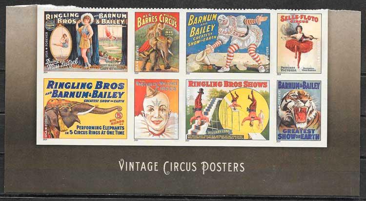 colección sellos arte EE:UU 2014