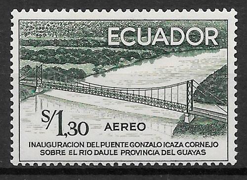 filatelia arquitectura Ecuador 1958