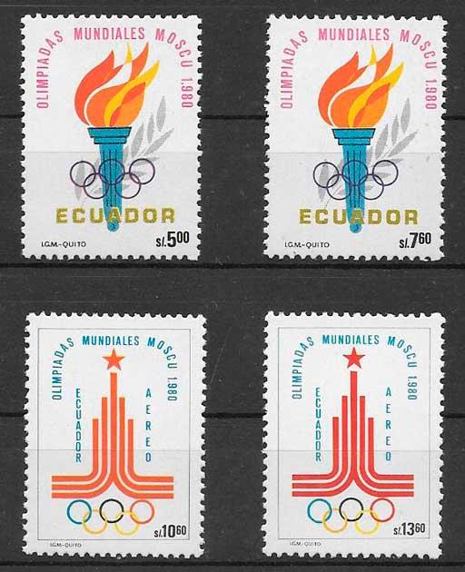 sellos deporte Ecuador 1980