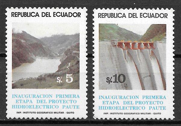 colección sellos arquitectura Ecuador 1983