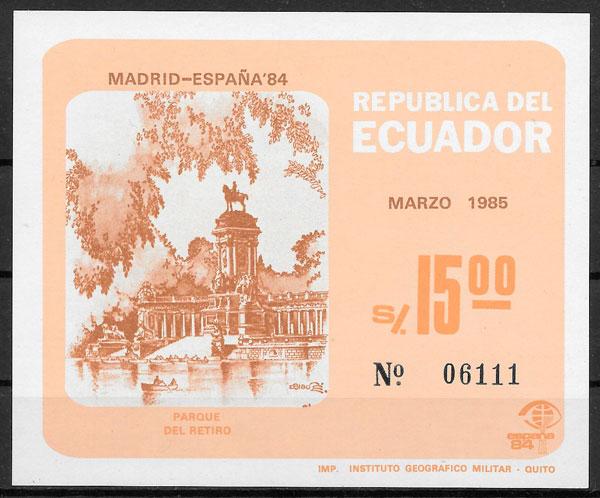 filatelia arquitectura Ecuador 1985