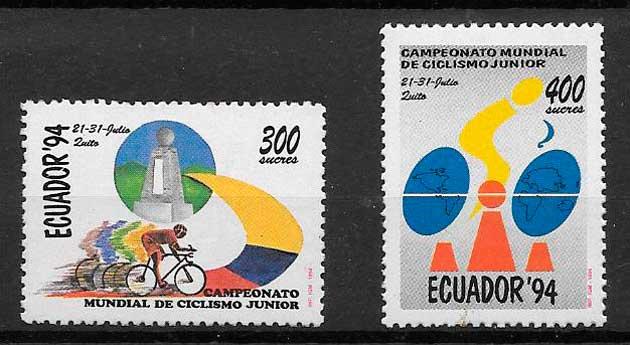 filatelia colección deporte Ecuador 1994