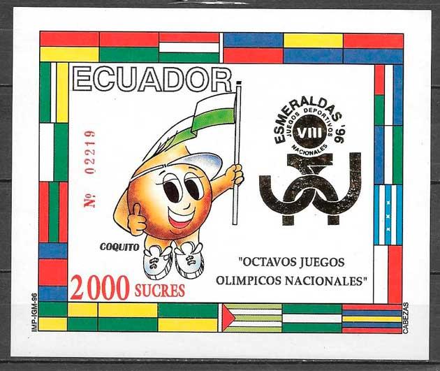 colección sellos deporte Ecuador 1996