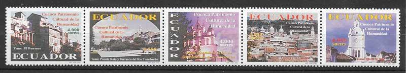 sellos arquitectura y turismo Ecuador 2000
