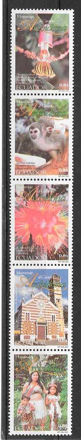 sellos turismo y arquitectura Ecuador 2001