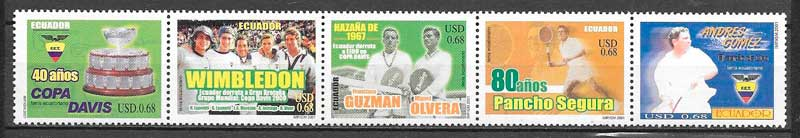 filatelia colección deporte Ecuador 2002